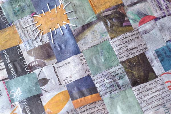 Stitched Woven Papier Mache Detail